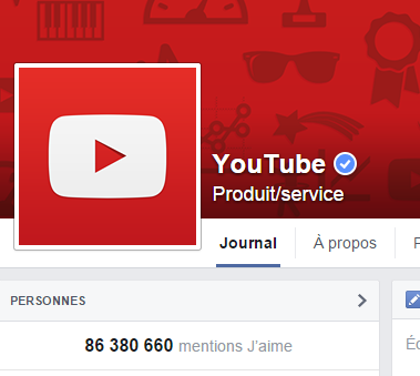 j'aime des top pages N°9 YOUTUBE