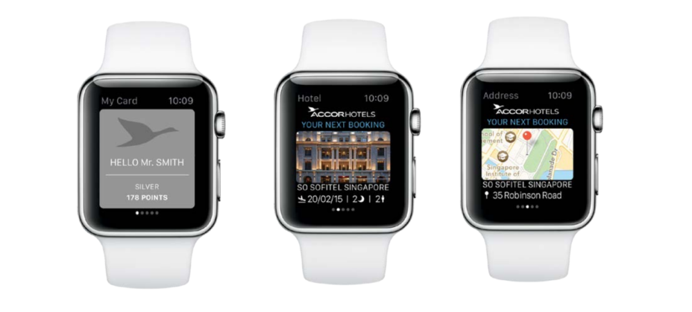 Accorhotels : Nouvelle application pour touristes sur Apple watch