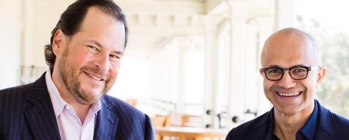 Microsoft voulait racheter Salesforce à 55 milliards de dollars