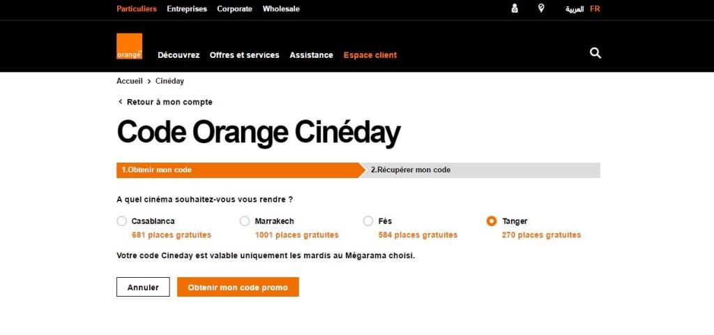 code-orange-cineday-Orange Cineday Comment ça marche : Une place offerte au cinéma