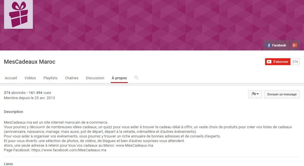 La chaîne officielle de Mescadeaux.ma