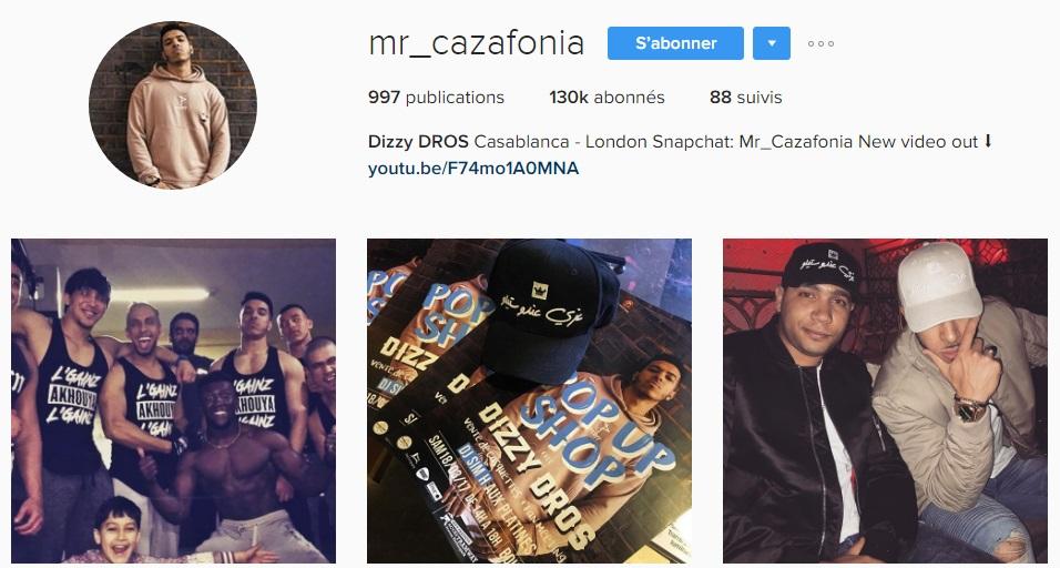Instagram de Dizzy DROS - Rap Maroc 2017