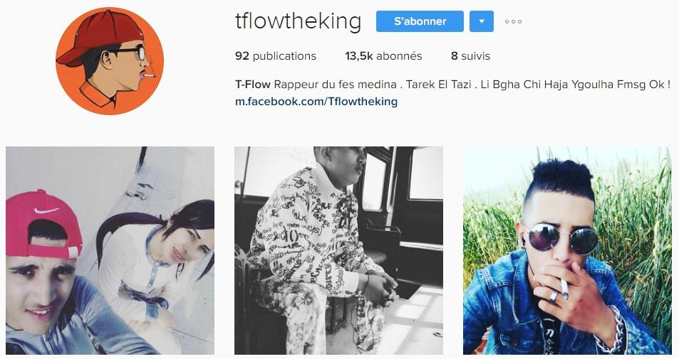 Instagram de de T-flow - Rap Maroc 2017