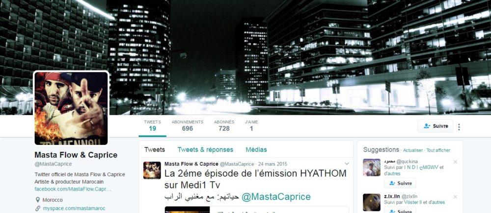 Twitter de Masta Flow - Rap Maroc 2017